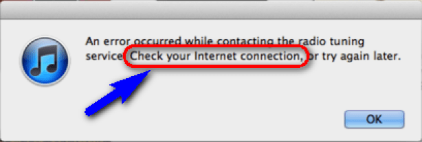Check your Internet Connection