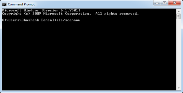 Run a sfc/scannow by Command Prompt