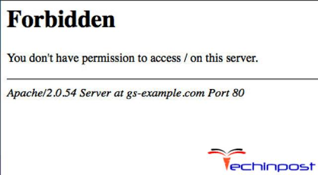 Error Code 403