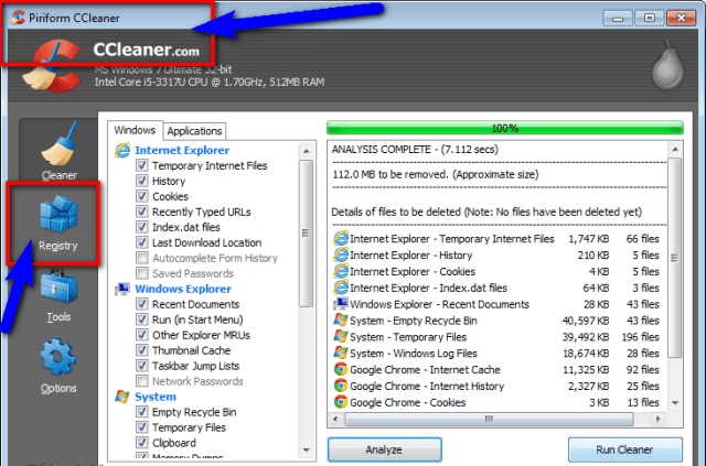 Fix by Cleaning the Registry from Ccleaner 0xc000009a
