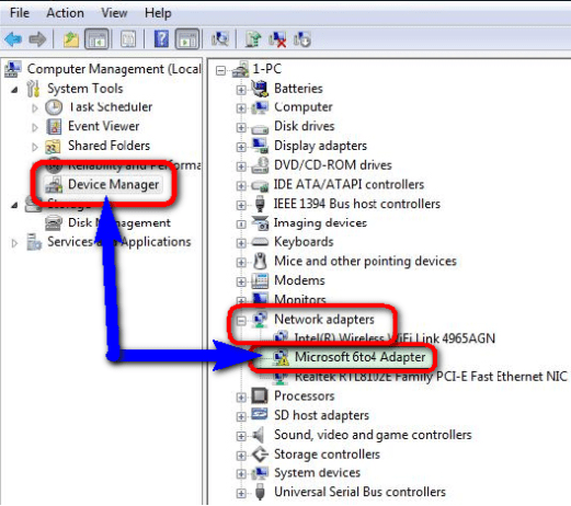Fix by Deleting & Removing from Device Manager