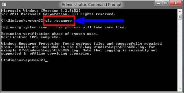 Fix by running sfc/scannow in Cmd
