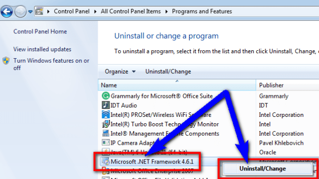 Uninstall the .NET framework and reinstall it again