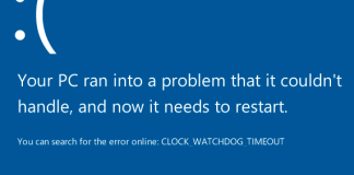 CLOCK WATCHDOG TIMEOUT