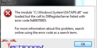 Error Code 0x80070005