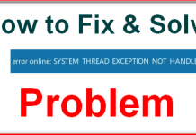 SYSTEM_THREAD_EXCEPTION_NOT_HANDLED