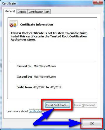 Fix by Installing required Certificate Error Code 18