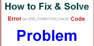ERR_CONNECTION_FAILED