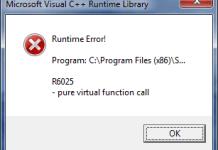 Runtime Error r6025