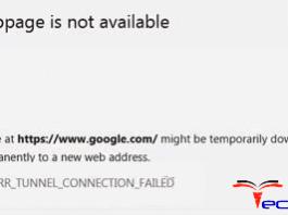ERR_TUNNEL_CONNECTION_FAILED