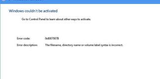 Error Code 0x8007007b