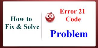 Error 21