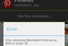 Google Play Store Error Retrieving Information from Server