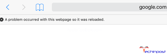 A Problem Occurred with this Webpage so it was Reloaded