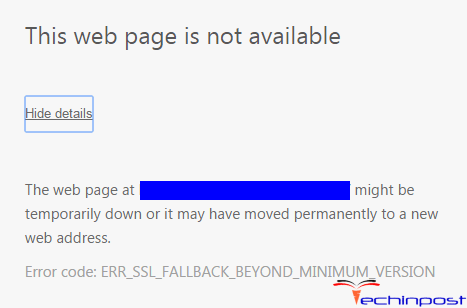 ERR_SSL_FALLBACK_BEYOND_MINIMUM_VERSION