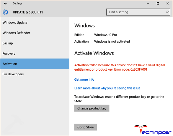 Solved windows error code 0x803f7001 activation failed issue solved windows error code 0x803f7001 activation failed issue ccuart Gallery