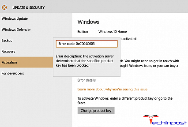error 0xc004c003 product key blocked windows 8
