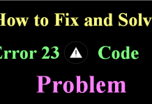 Error 23