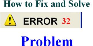 Error 32