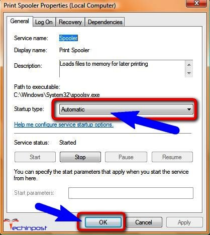 Change the Startup type to Automatic on your Windows PC