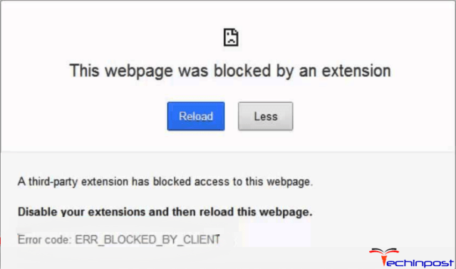 ERR_BLOCKED_BY_CLIENT
