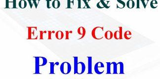 Error 9