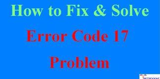 Error Code 17