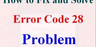 Error Code 28