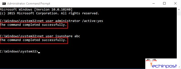 """By net user administrator /active""""yes Command in CMD (Command Prompt)"""