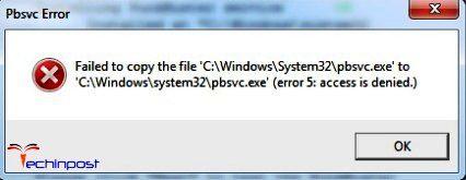 Error Code 5