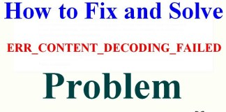 ERR_CONTENT_DECODING_FAILED