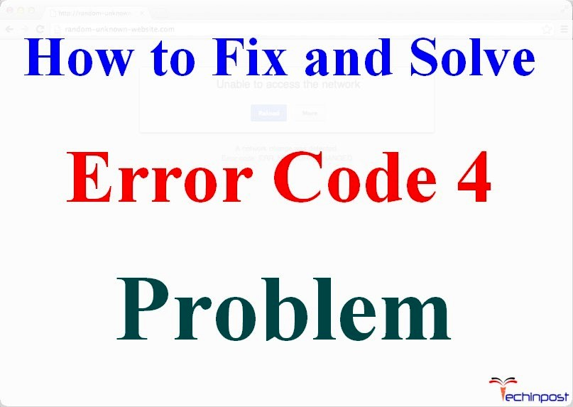 Solved How To Fix Error 4 Code Problem Issue 100 Working