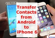 How to Transfer Contacts from Android to iPhone 6