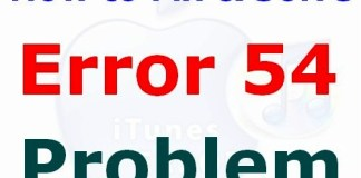 Error 54