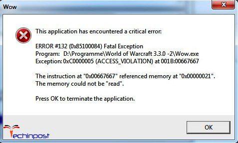 error 132