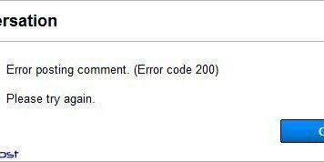 Error Code 200