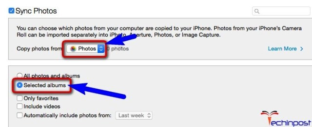 Delete iPhone Synced Photos by Syncing No Pictures