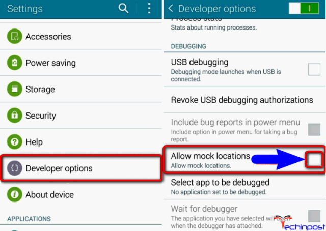 Disable Mock Locations from Developer Option