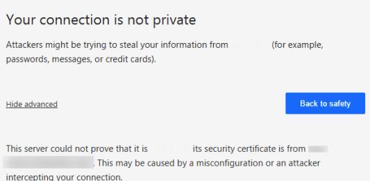 NET::ERR_CERT_COMMON_NAME_INVALID