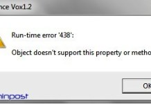 Runtime Error 438