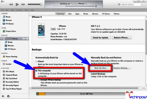 Backup your iPhone with iTunes, How to Setup your iPhone Backup to an External Drive