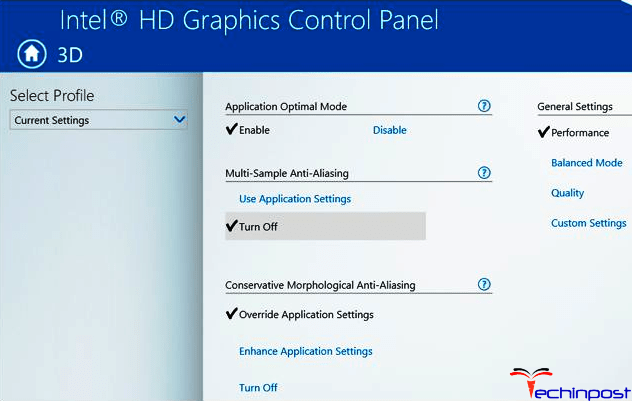 Change the Intel Graphic Settings VIDEO TDR FAILURE