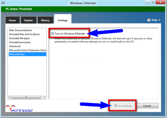 Disable the Windows Defender