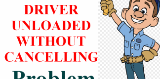 DRIVER UNLOADED WITHOUT CANCELLING PENDING OPERATIONS