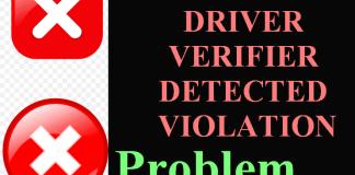 DRIVER VERIFIER DETECTED VIOLATION