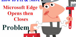 Microsoft Edge Opens then Closes