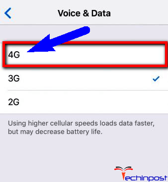 Run Fast Internet or Enable the 4G LTE on your Device Cannot Connect to the iTunes Store