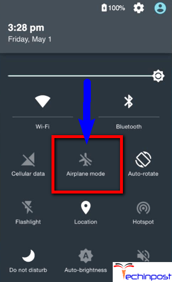 Switch your Android Device to Airplane Mode