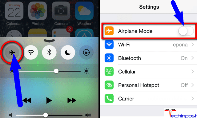 Turn ON & OFF your Airplane Mode on your iPhone