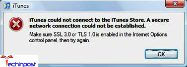 iTunes Could not Connect to the iTunes Store
